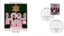 """Westberlin Schmuck-FDC Mi. 707 """"Weihnachten 1983"""" ESSt 10.11.1983 BERLIN 12 - Berlin (West)"""