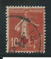 FRANCE: Obl., N° YT 146, Rouge Foncé, TB - 1906-38 Semeuse Camée