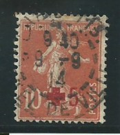 FRANCE: Obl., N° YT 146, Rouge Foncé, TB - 1906-38 Säerin, Untergrund Glatt