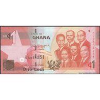 TWN - GHANA 37f - 1 Cedi 1.7.2015 Prefix GJ UNC - Ghana
