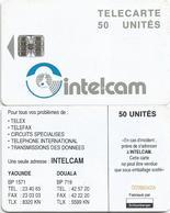 Cameroon Cameroun 50 UT CAM-27 INTELCAM Small Arrow White Back Schlumberger Phonecard Telecard - Camerún