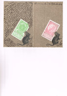 BELGIQUE : Souris Mangeant Les Timbres Belges. 2 Cartes De 1904. Original! - Humour