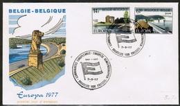 CEPT 1977 BE MI 1905-06 BELGIUM FDC - Europa-CEPT