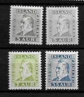 1935 MNH Iceland Mi 184-6 - 1918-1944 Amministrazione Autonoma