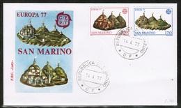 CEPT 1977 SM MI 1131-32 SAN MARINO FDC - Europa-CEPT
