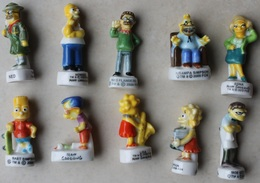Lot De 10 Fèves Simpson Toutes Différentes . Sends Worldwide - Cartoons