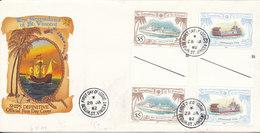 Grenadines Of St. Vincent FDC 28-1-1982 Ships Definitive With Cachet - St.Vincent & Grenadines