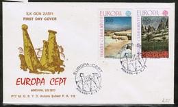 CEPT 1977 TR MI 2415-16 TURKEY FDC - Europa-CEPT