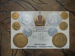 Coins Des Monnaies Du Jubilé 1907 1908 Osterreich Ungarn  Austria Hungary Autriche Hongrie Relief Gaufré - Monnaies (représentations)