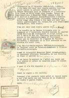EXPLOIT D'HUISSIER 1933 AVEC TIMBRE DE DIMENSION ET CACHET - 1900 – 1949