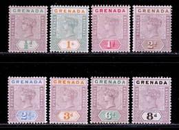 Grenada 1895-1899 MH Set SG 48/55 - Grenada (...-1974)
