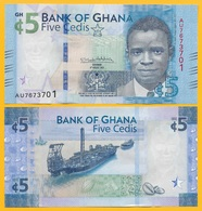 Ghana 5 Cedis P-44 2017 UNC Banknote - Ghana