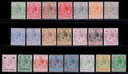 Grenada 1921-1932 MH Set SG 112/134 - Grenada (...-1974)