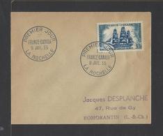 FRANCE.  YT FDC   N° 1035  Oblitération 1er Jour  9-7-1955 - FDC