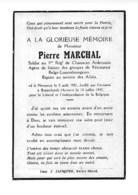Messancy Pierre Marchal Soldat Espion Agent De Liaison Messancy 5 Août 1921 Fusillé à Breendonck  Anvers 14 Juillet 1943 - Messancy