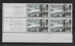 FRANCE - BORDEAUX 1957 - YVERT N° 1118 En BLOC De 4 COIN DATE ** MNH  - COTE = 27 EUR. - 1950-1959