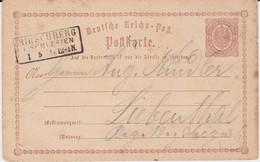Preußen Nv Ra3 Hirschberg Ostgebiete Schlesien Gzs DR P 1 1874 - Preussen