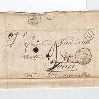 Sur LAC D'Oran Pour Sauve Gard CAD Type 12 Oran Poss. D'Afr. Août 1848. C. R. Manuscrit D'Ottia (?) à Marseille. (2334x) - Marcophilie (Lettres)
