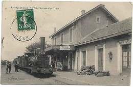 Algérie Saida 1903 Gare L'arrivée D'un Train Locomotive Joli Plan  éditeur E.Pascal N°8 Dos Scanné - Saida
