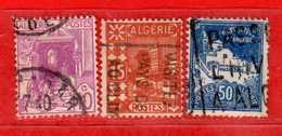 (Us3) ALGERIA - ALGERIE °-1926 - Vues D'Alger - Yvert. N° 38-39-47. Oblitéré .  Vedi Descrizione - Algeria (1924-1962)