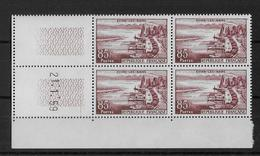 FRANCE - EVIAN 1959 - YVERT N° 1193 En BLOC De 4 COIN DATE ** MNH  - COTE = 27.2 EUR. - 1950-1959