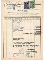 1954 YUGOSLAVIA, SLOVENIA, TOLMIN, INVOICE ON A FACTORY LETTERHEAD, 2 FISKAL STAMPS - Invoices & Commercial Documents