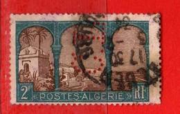 (Us3) ALGERIA - ALGERIE °-1926 - Vue D'Alger - PERFIN Yvert. N° 54. Oblitéré .  Vedi Descrizione - Algeria (1924-1962)