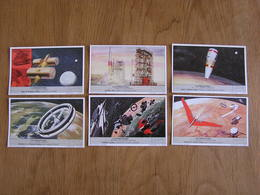 LIEBIG L' Astronautique Fusée Conquête Spatiale Engins Spatiaux Série De 6 Chromos Trading Cards Chromo - Liebig