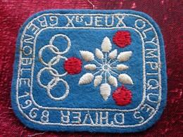 1968 Xé JEUX OLYMPIQUE D'HIVER  De GRENOBLE- Écusson Blason Tissu/Feutrine Brodé - Écussons - Blasons Crest Coat Of Arms - Patches