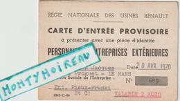 Vieux  Papier :  LE MANS  Usine  Renault  1970 - Unclassified