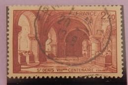 """FRANCE YT 661 CACHET ROND """"BASILIQUE ST DENIS"""" ANNÉE 1944 - Oblitérés"""