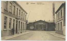 Selzaete-Selzate-Place De La Gare-Stalieplaats (CPA) - Belgio