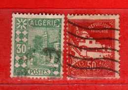 (Us3) ALGERIA - ALGERIE °-1927-30 - Vue D'Alger - Yvert. N° 79-79A. Oblitéré .  Vedi Descrizione - Algeria (1924-1962)