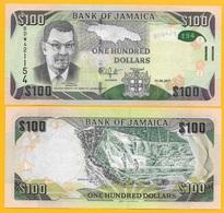 Jamaica 100 Dollars P-95 2017 UNC Banknote - Jamaica