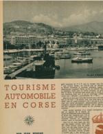 1954 : Document, LA CORSE, Ajaccio, Bonifacio, Quartiers De Bastia, Le Golfe De Porto, Calvi, Scala-di-Santa-Régina... - Vieux Papiers