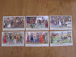 LIEBIG La Maison De Bourgogne Histoire Péronne Hainaut Série De 6 Chromos Trading Cards Chromo - Liebig