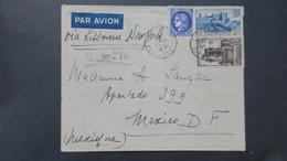 Lettre De Marseille Pour Mexique Via Lisbonne Et New York Novembre 1940 - Postmark Collection (Covers)