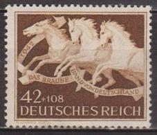 Chevaux - ALLEMAGNE - DEUTSCHES REICH - 9° Ruban Brun - N° 739 ** - 1942 - Allemagne