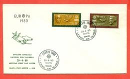 EUROPA CEPT-EUROPE- FDC MALTA 1980 - Malta