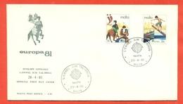 EUROPA CEPT-EUROPE- FDC MALTA 1981 - Malta