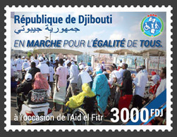 DJIBOUTI 2019 - March For Equality, Motorbike 1v. Official Issue - Motorräder