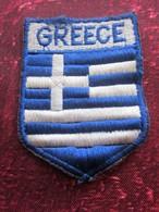 GREECE GRECE-ΕΛΛΑΔΑ-Καρφωτικό Πλεκτό-Écusson Blason Tissu Feutrine Brodé-Crest Coat Of Arms Fabric Embroidered Felt - Patches
