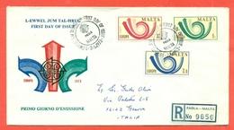 EUROPA CEPT-EUROPE- FDC MALTA 1973 -RACCOMANDATA  PER L'ITALIA - Malta