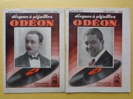 2 LIVRET DE 1928 DES DISQUES ODEON - Musique & Instruments