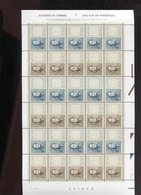 Belgie 1999 2817/18 Medaillon Stamp On Stamp Monarchie Leopold I Full Sheet MNH Plaatnummer 4-2 - Hojas Completas