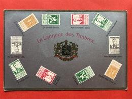 RELIEF - GAUFREE - LE LANGAGE DES TIMBRES - BELGES -  DE TAAL VAN DE BELGISCHE POSTZEGELS -  JE NE SUIS PAS LIBRE Etc - Timbres (représentations)