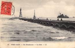 Port-Saïd. - The Breakwater. - La Jetée. - Circulée En 1927 - Egypte