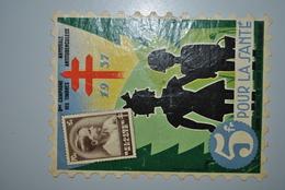 Belgique 1937 Vignette Antituberculeux Mauvais état - Commemorative Labels