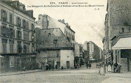75  PARIS 18e AR   MONTMARTRE   LA BERGERIE DE GABRIELLE D'ESTREE ET LA RUE DU MONT CENIS - Arrondissement: 18