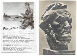 Lot De 2 Cartes Recoupées  - époque Du III Reich - Guerra 1939-45